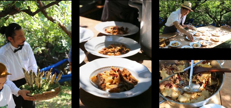 青空レストラン,farm table,大きな梅の樹の下で