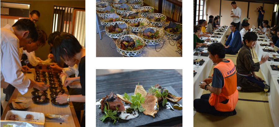 道成寺,レストランイベント,日本のおへそで手を合わす